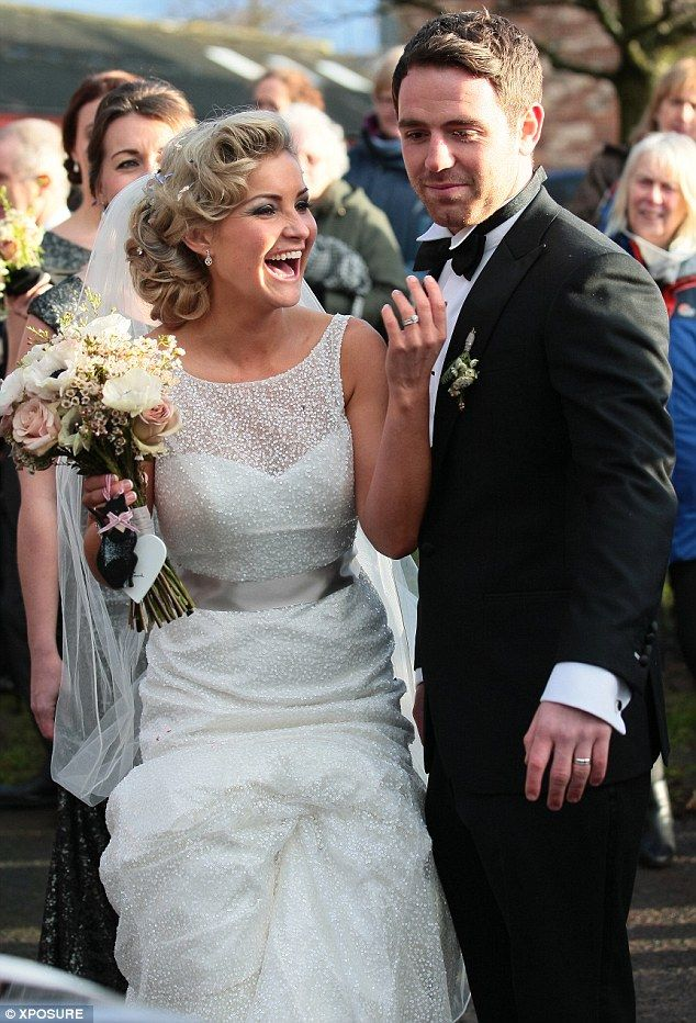 Here's one I brought new! Former Blue Peter presenter Helen Skelton married rugby player boyfriend Ritchie Myler in Kirkby Thore in Cumbria ...