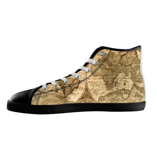 Ancient Map Shoes - Available Here: http://www.customdropshipping.com/personalized-design/personalized/anicent-map-black-high-top-canvas-shoes-model002-women-47250
