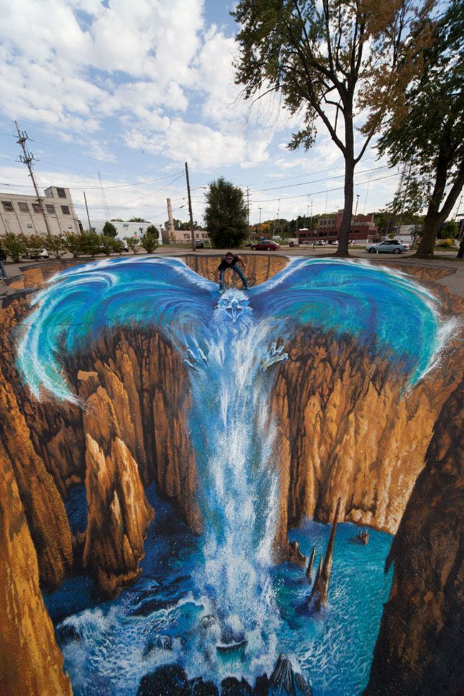 street art - 15 Amazing Street Arts Around The World das bewundere ich weil es echt eine Herausforderung der eigenen Person ist ich bin selbst künstlerich sehr begabt