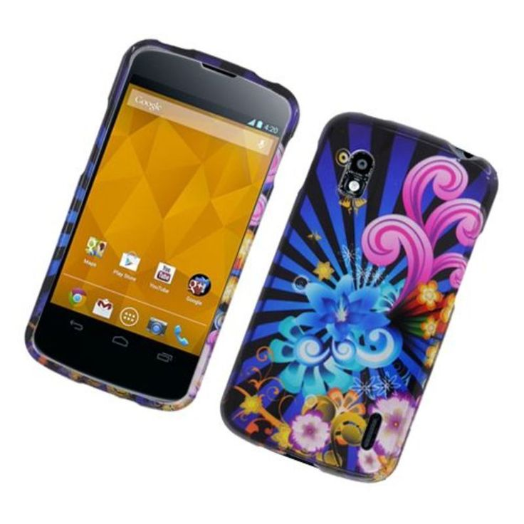 Insten / Colorful Fireworks Hard Snap-on Glossy Case Cover For LG Google Nexus 4 #2318955