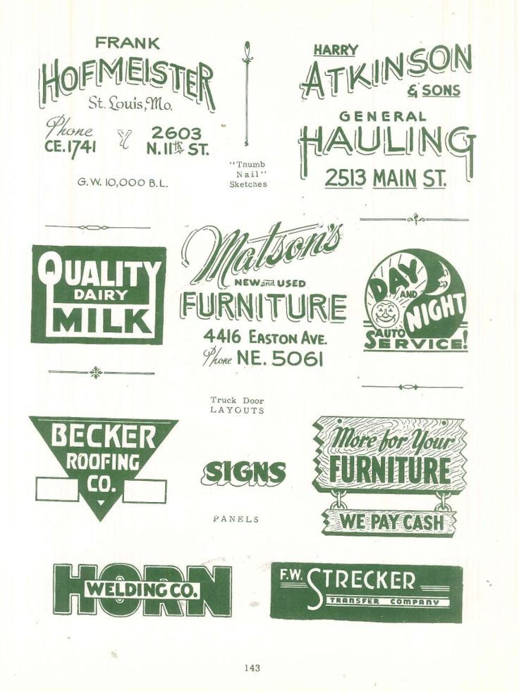 From The Book Sign Painting Sign Painting Lettering Painted Signs Lettering Fonts Design