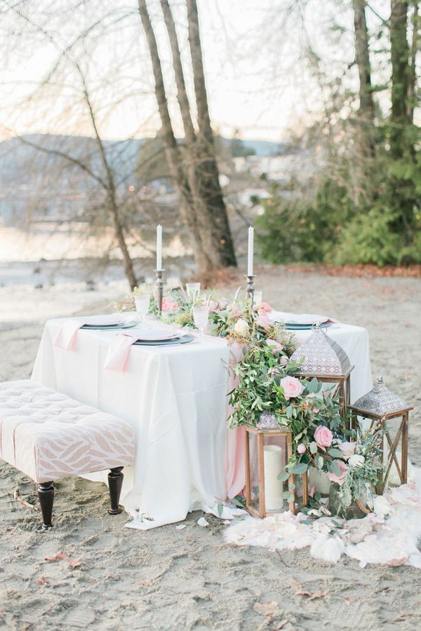 Inspiración para decorar una adorable boda en la playa. #decoración #boda #playa