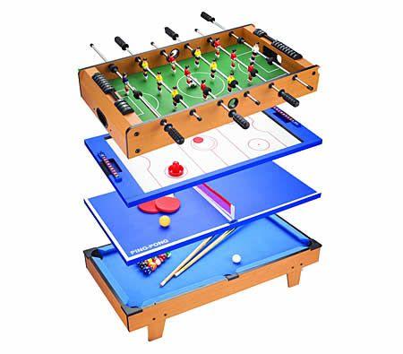 Table Tennis, Air Hockey, Pool, Foosball, Soccer game in 1 table!