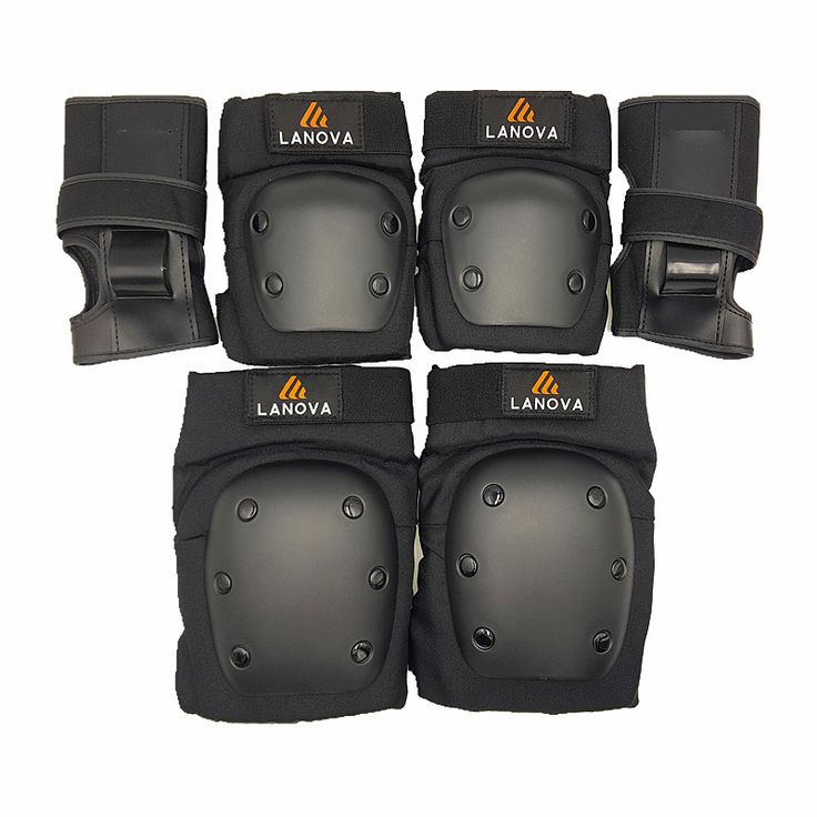 Patins Set LANOVA 6 pcs/Set pelindung Lutut Pads Elbow Pads Wrist Pelindung Perlindungan untuk Scooter Cycling Roller Skating