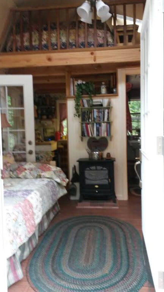 Aging Woman Turns 192 Sq Ft Shed Into Future Tiny Home Shed To Tiny House Shed Homes Tiny House Cabin