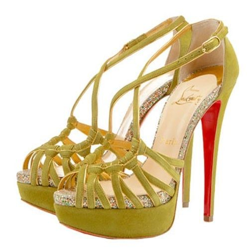 Christian Louboutin Sandale 8 Mignons 150mm Chartreuse