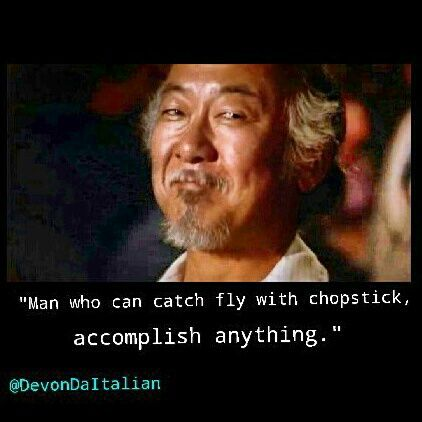karate kid mr miyagi quotes