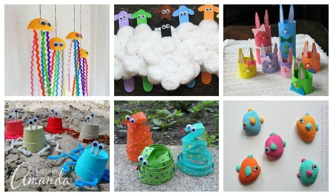 55+ Colorful Kid's Crafts: Mache süße Monster aus recycelten Materialien und anderen …   – Kids art projects