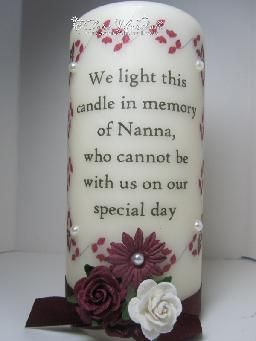 memorial candles for weddings | red burgundy wedding memorial candle wedding memorial candle complete ...