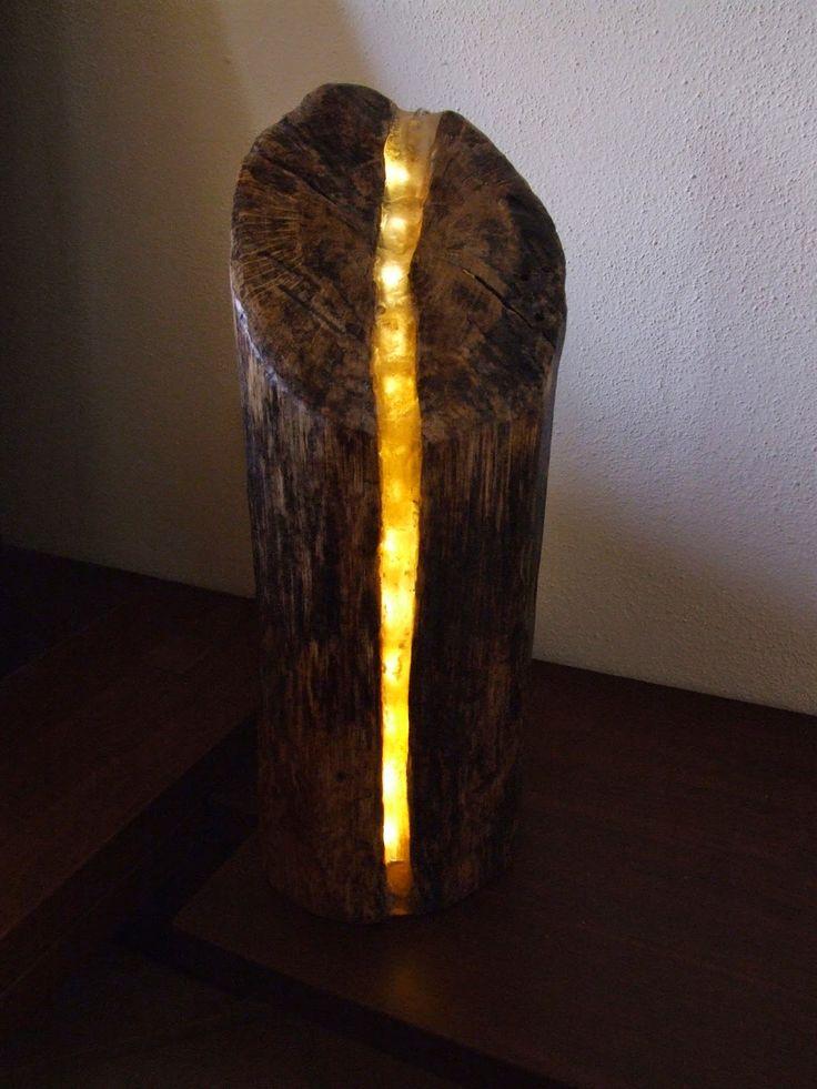 il ceppo. Lampada led in tronco di quercia e resina epossidica. #wood  #legno #noitools