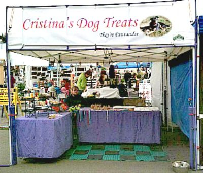 Dog Treat Business Farmers Market Tips. Read wonderful ideas for surviving your first farmers market from Cristina's Dog Treats, an experienced vendor!