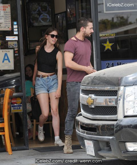 Mia Goth lunching with Shia LaBeouf http://icelebz.com/events/shia_labeouf_lunching_with_mia_goth/photo1.html
