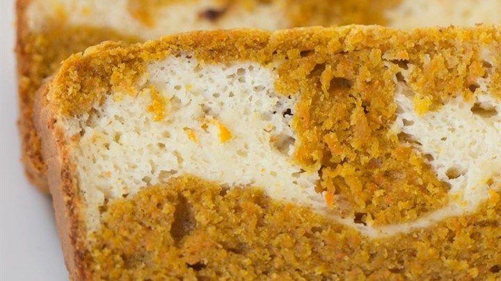 Carrot Cake with Bourbon Cheesecake Swirl