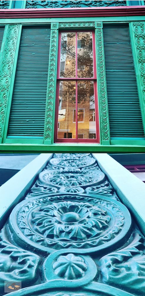 The Rogers Building circa. 1886 on Magnolia in Downtown Orlando was originally an English Gentleman�s Club. One of the last wood buildings that survived destruction because of its unique zinc paneling over the entire exterior. #HistoricPreservation #OldHouse  #Historical #Historic  #TheCraftsmanBlog #AustinHistorical #DIYblog #Windows #OldWindows #WindowRestoration #DIY #Salvage #Local #Orlando #Florida #City #Downtown #Magnolia