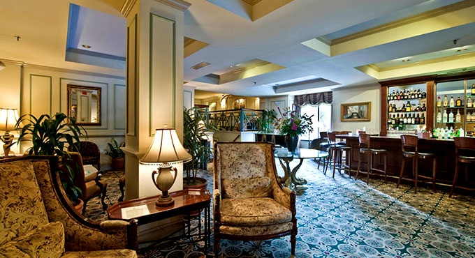 18th century-style European furnishings make for a warm welcome