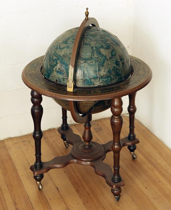 Into the future library: The requisite globe liquor cabinet.