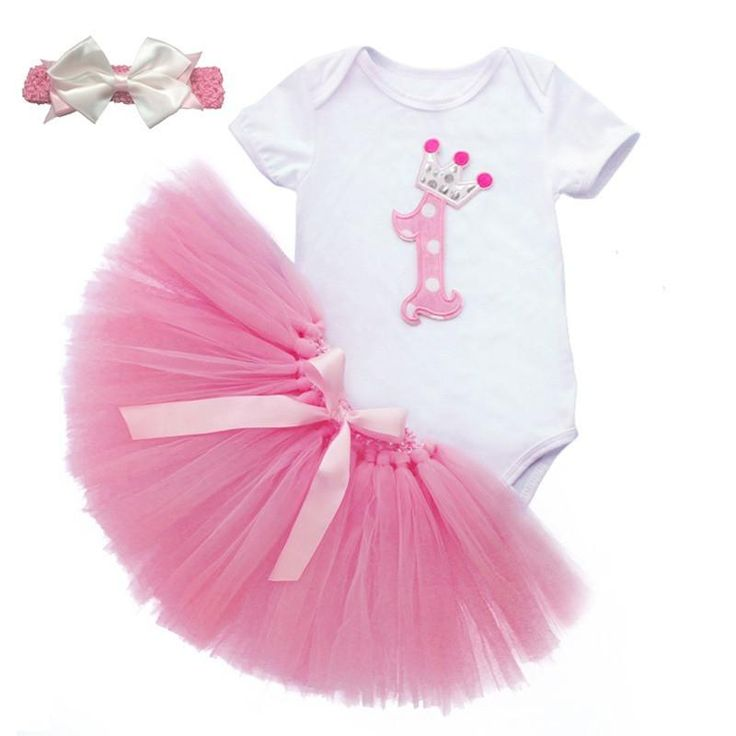Afterpay Zippay Pink / 18M3PCS New Baby Girl 1st Crown ...