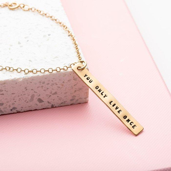 Personalised Posh Totty Designs Bar Bracelet | GettingPersonal.co.uk