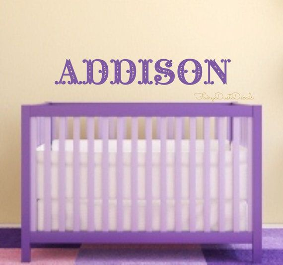 Baby Girl Wall Decal Name   Fancy Letters