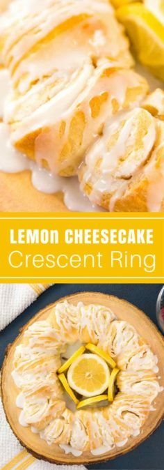 Quick and easy lemon cheesecakeCrescentRing (video recipe) packed with