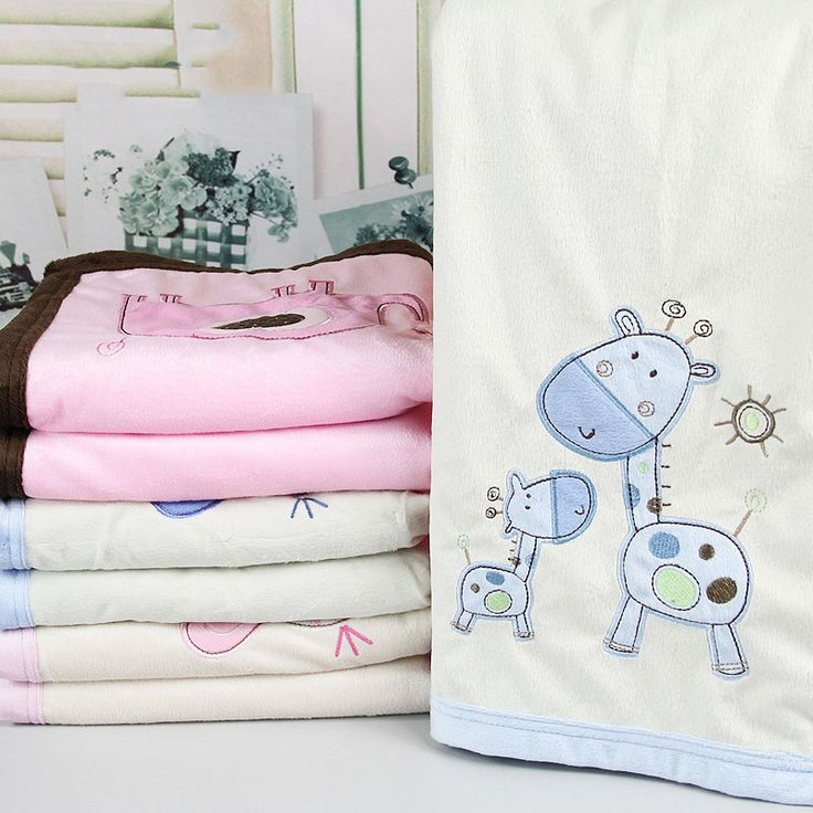 Double Layer Baby Blanket Newborn Infant Crib Bedding For Boy And Girl Super Soft fleece Blanket for Baby Gift 76*102cm 450g