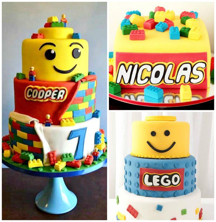Bolo decorado tema Lego party festa                                                                                                                                                      Mais