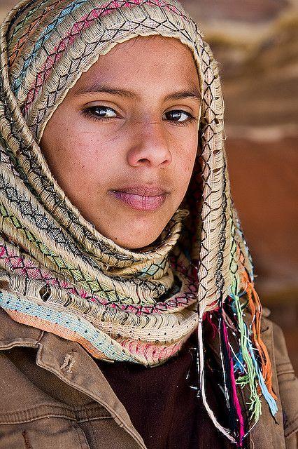 Bedouin Girl - Petra, Jordan  how beautiful this young woman is!