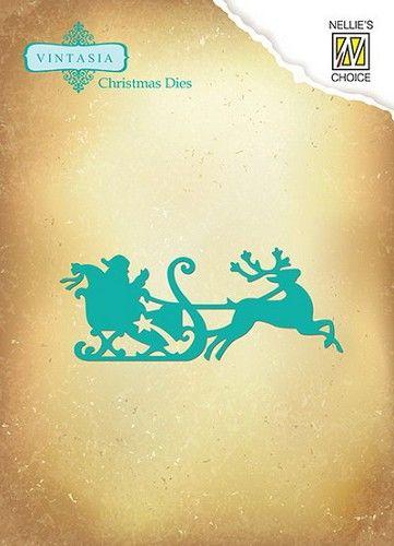 Nellie`s Vintasia Die; Santa Claus