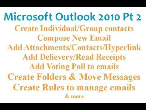 Microsoft Outlook 2010 pt 1 (Setup, Options, Signature, View...) - YouTube