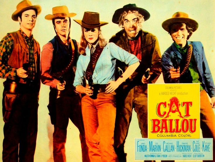 Cat Ballou (1965) - O'l silver nose gets it in the end.