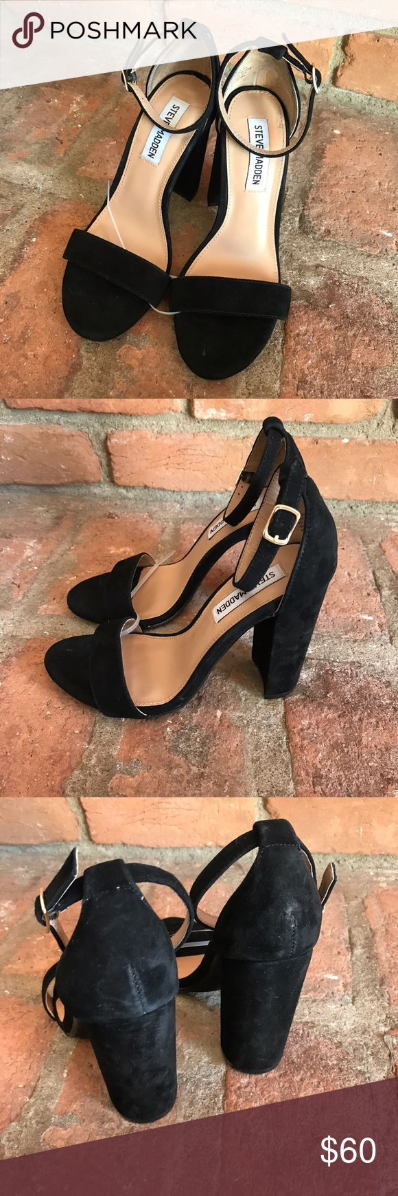 Steve Madden carrson block heels ❗️ In excellent condition super clean inside and out bottoms have a little dirt! Feel free to ask any questions Steve Madden Shoes Heels