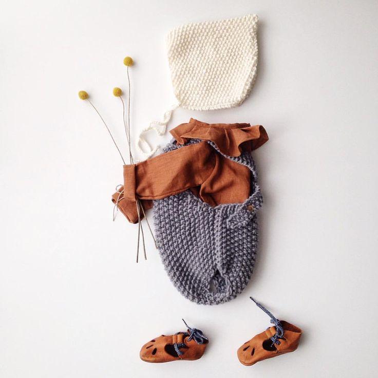 Wool.& Cie в Instagram: «Comme un Jeudi, une petite blouse, une barboteuse douillette & Le petit beguin au lait #woolandcie #blousekim»