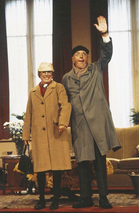 Corrie van Gorp en André van Duin, meneer en mevrouw De Bok, 1980. Foto: Roy Beusker.