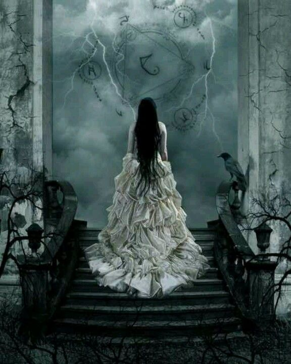And all she had left was this beautiful, white dress, while the rest of her life became dark