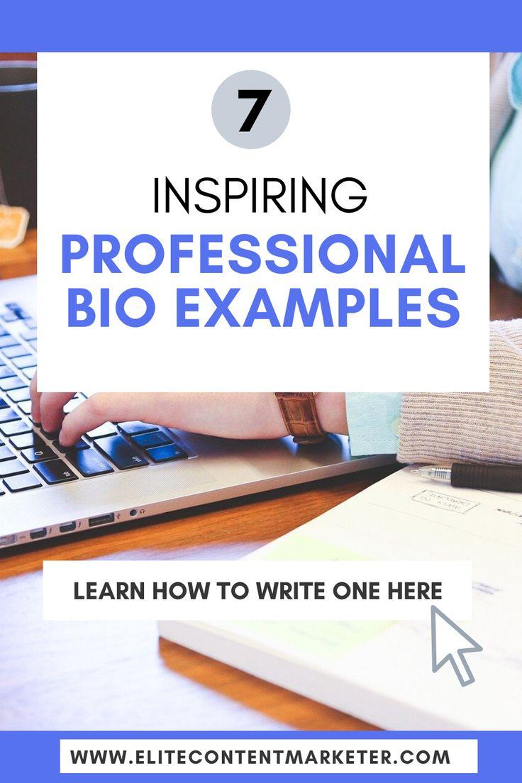 12 Best Professional Bio Examples For Inspiration - Elite Content