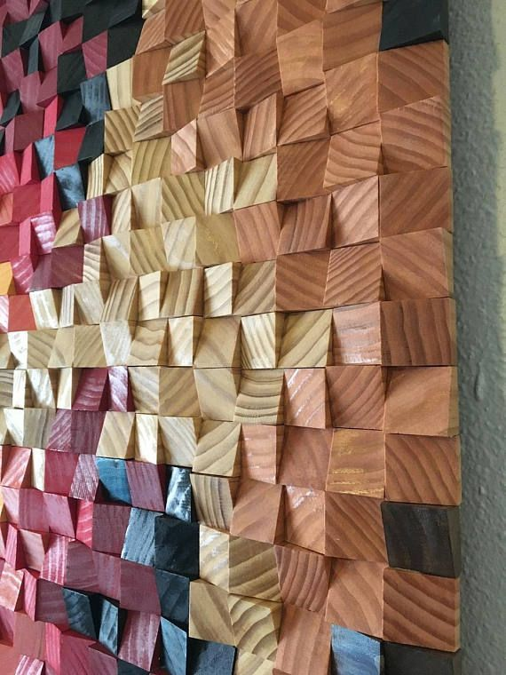 Wood wall art, wood wall decor, wood wall sculpture, wood