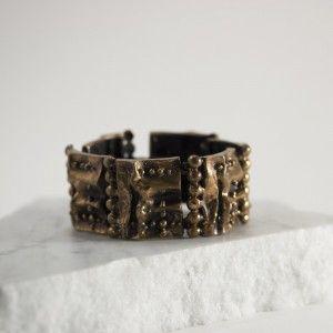 Brutal bronze 1970s bracelet