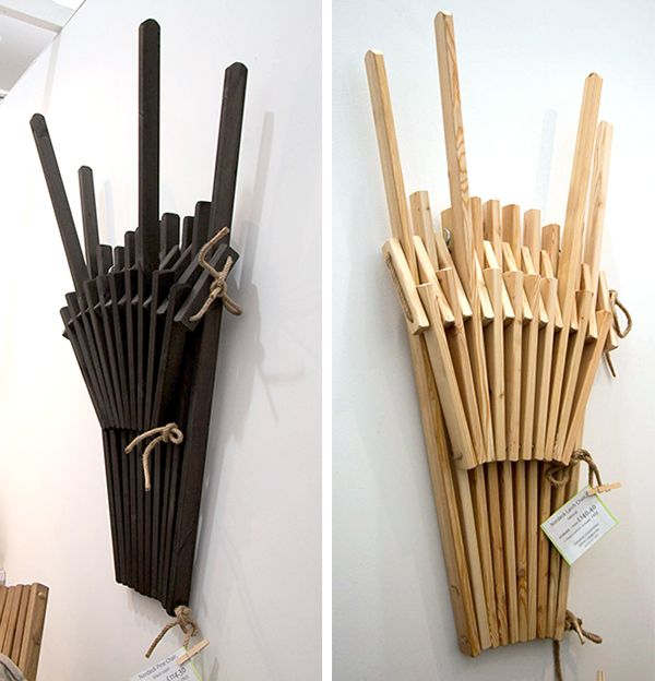 NorDeck chairs fold flat and look great while doing so. Chair fold away = wall art
