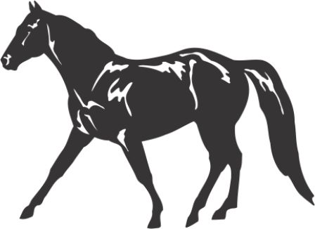 Силуэт лошади AF