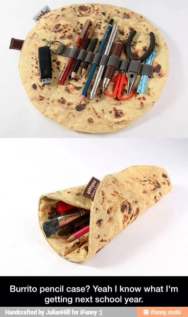 burrito pencil case