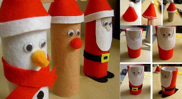 DIY Easy Toilet Paper Roll Santa Claus