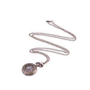 Bronzy Hollow Style Design Necklace Pocket Watch Neewer. $1.61
