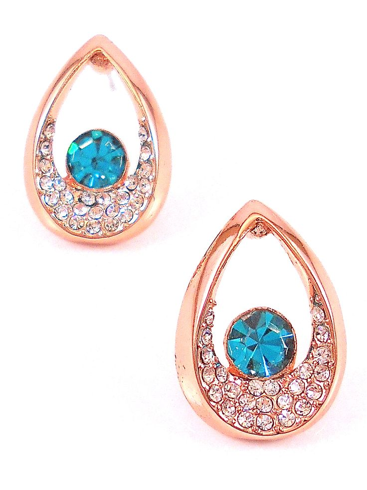 Jade crystal earrings.