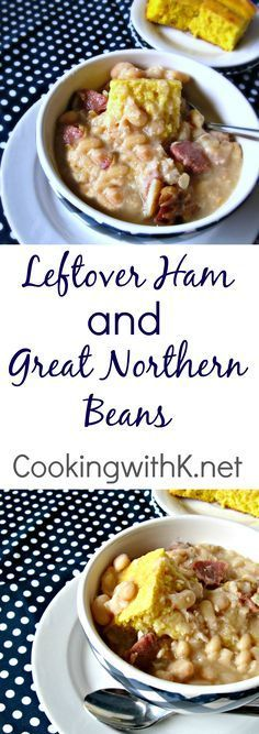 Leftover Ham makes the most delicious Great Northern Beans.  Cook the ham and…