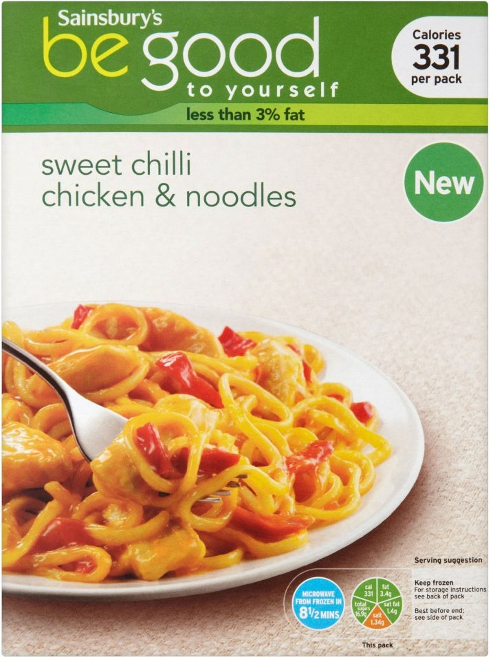 Sainsbury's Be Good to Yourself Sweet Chilli Chicken Noodles (400g)