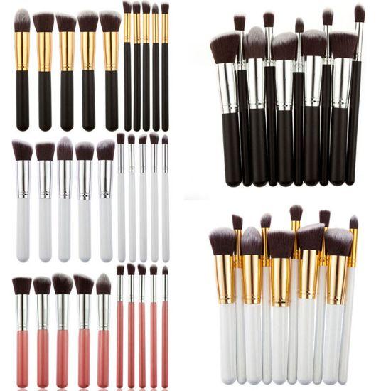 premium soft synthetic hair 10 piece kabuki makeup brush set in promotional:  WhatsApp:86-13424200883 email:alicesdsd@aliyun.com