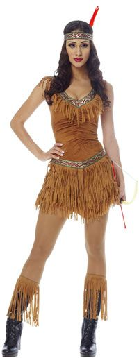Indian Maiden Sexy Costume - Native American Indian Costumes
