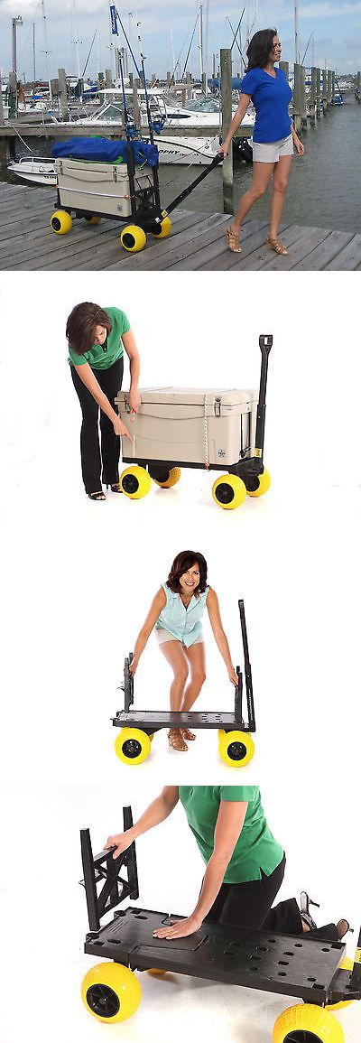 Wheelbarrows Carts and Wagons 75671: Beach Surf Fishing Garden Plus One Series Cart 4 All-Terrain Wheels Pull Wagon -> BUY IT NOW ONLY: $169 on eBay!