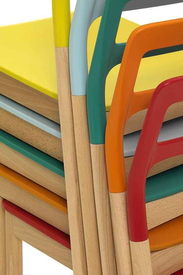 Monica Förster Design Studio, FLORINDA Chair, De Padova, 2011 #scandinaviandesign #product # design #furniture #chair #depadova #interior #accessories #livingroom #wood #plastic #mix #stackable #warmatmosphere