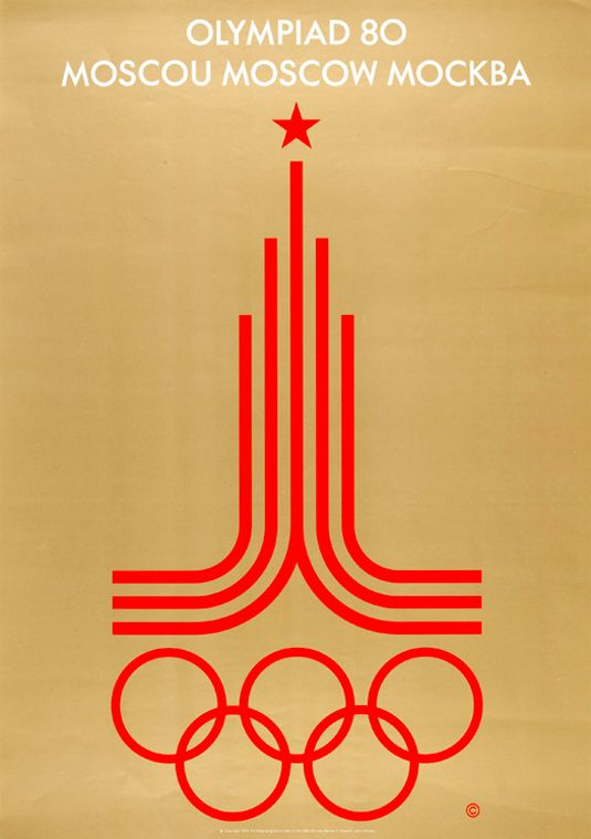 Moscow 1980 Summer Olympic poster. Soviet Union.